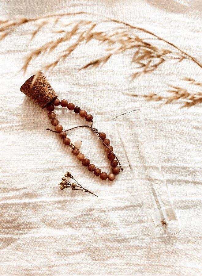 Verstelbaar Handgemaakt Armbandje - Zonnesteen