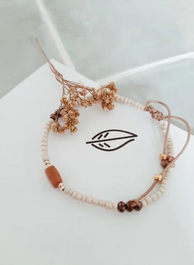 Verstelbaar Handgemaakt Armbandje - Beads II