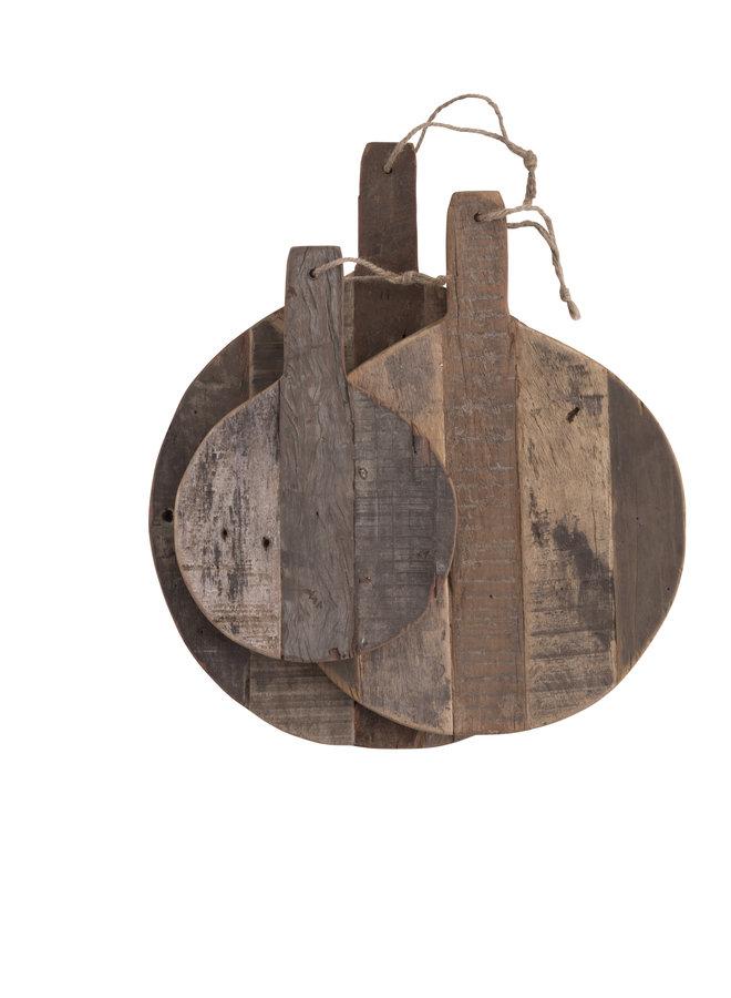 Serveerplank Vintage Hout Rond 20 cm