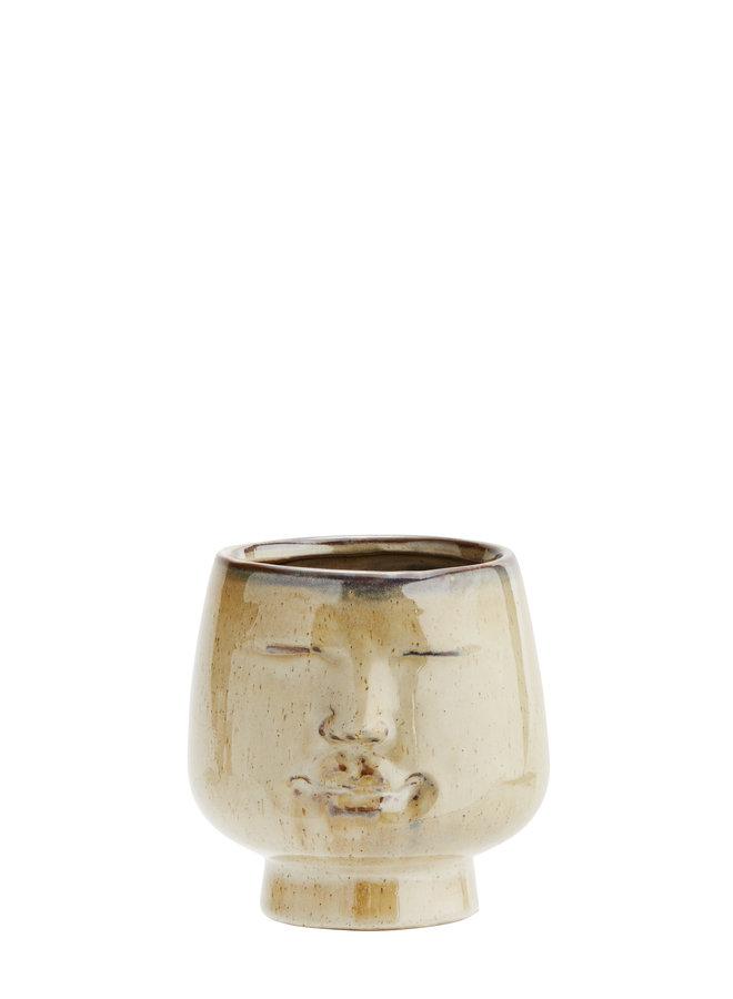 Pot Face Beige 12x11,5 cm