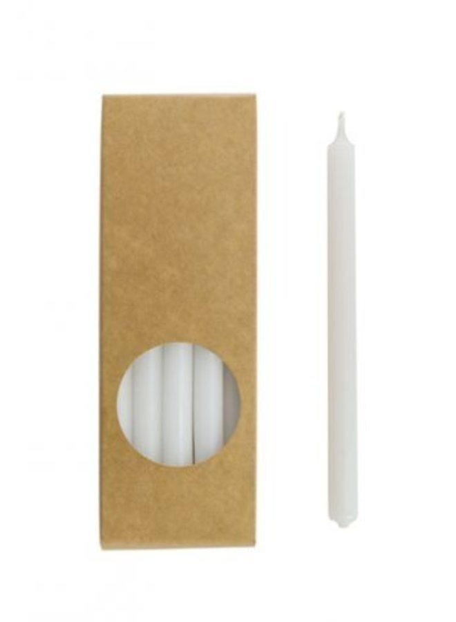Pakje Potloodkaarsen Wit 20 stuks 17,5 cm