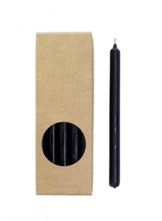 Pakje Potloodkaarsen Zwart 20 stuks 17,5 cm