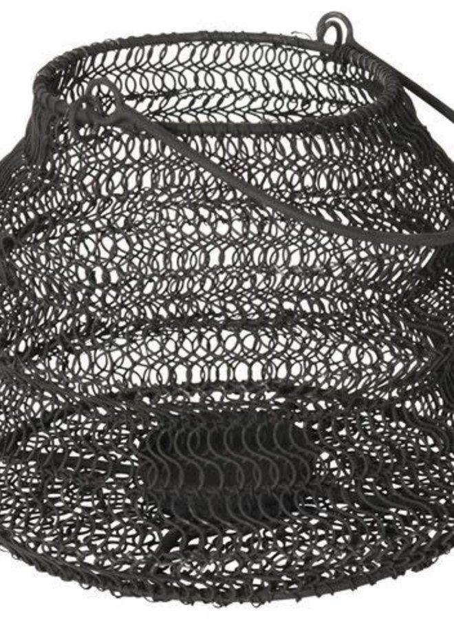 Opvouwbaar Windlicht Zwart 20x15 cm