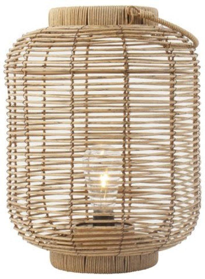 Rotan Lantaarn met LED-lamp 24 cm