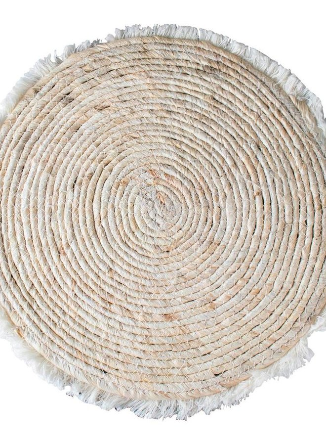 Wanddeco | Placemat met Franjes 38,5 cm