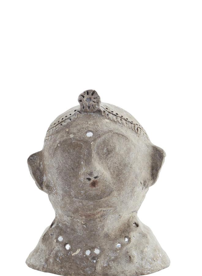 Papier Maché Sculpture met Spiegeltjes 26 cm