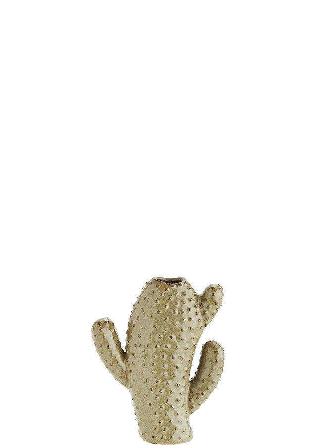 Cactusvaas Beige / Bruin 15 cm