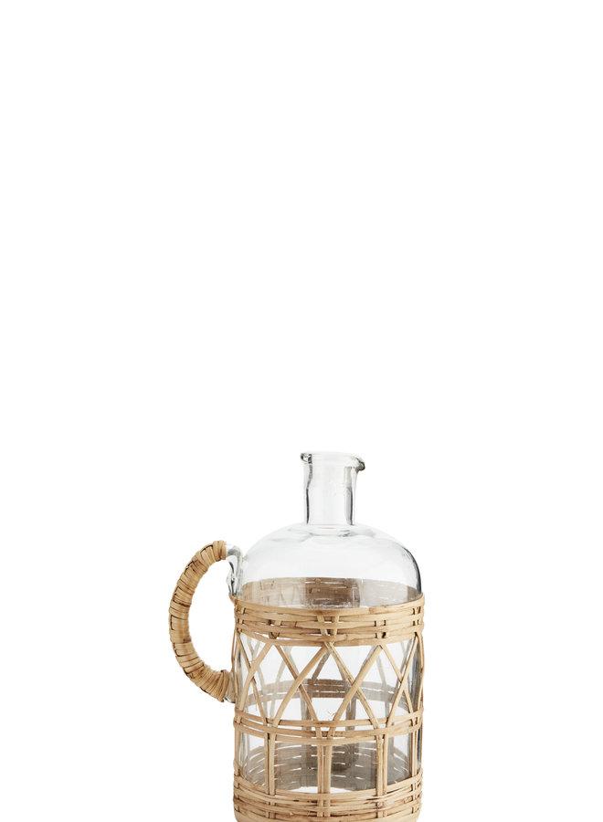 Glazen Kan | Vaasje met Riet 19x27 cm