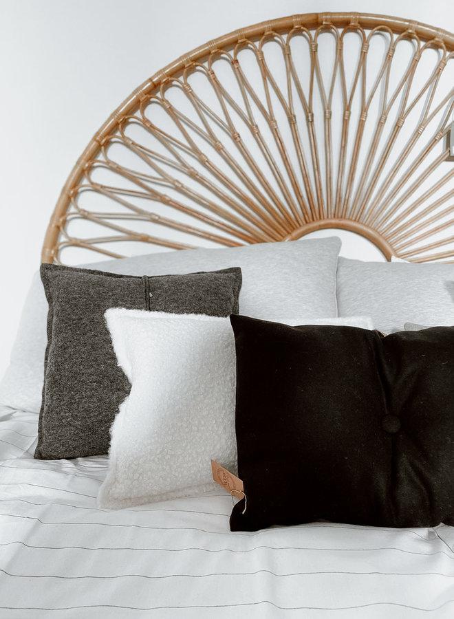 Kussen Zwart Knoop 40x60 cm