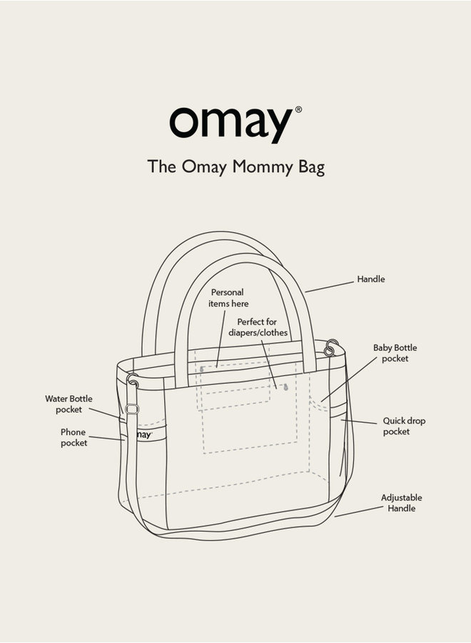 Omay Mommy Bag Teddy