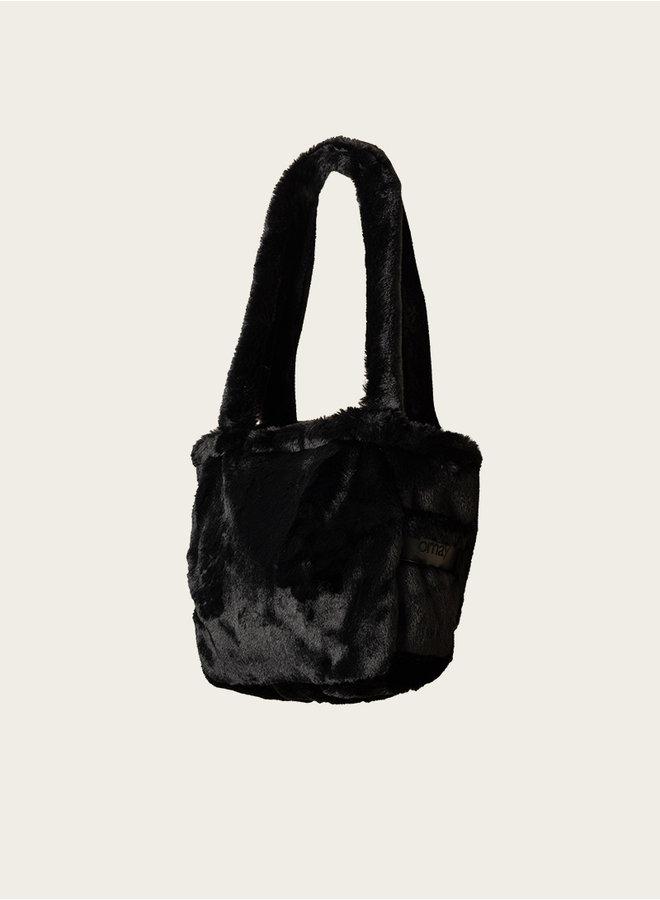 Omay City Bag Black Faux Fur