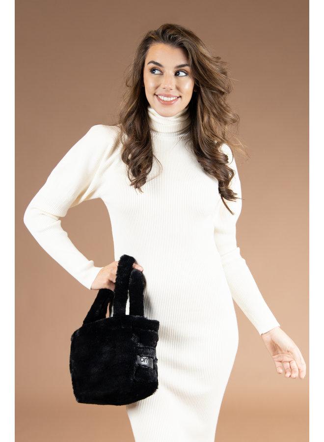 Omay Mini Bag Black Fux Fur