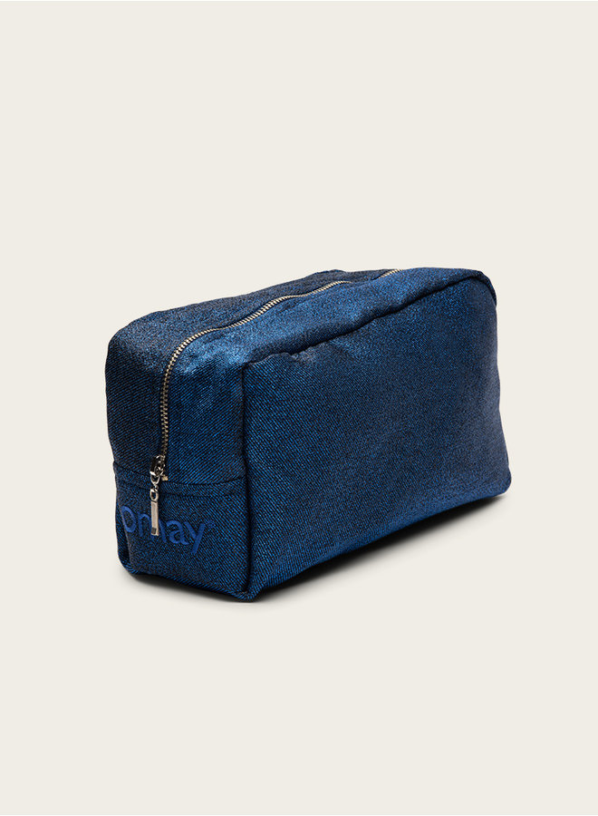 Omay Pouch Blue Glitter