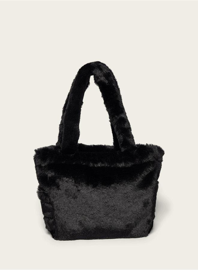Omay Mini Bag Black Faux Fur
