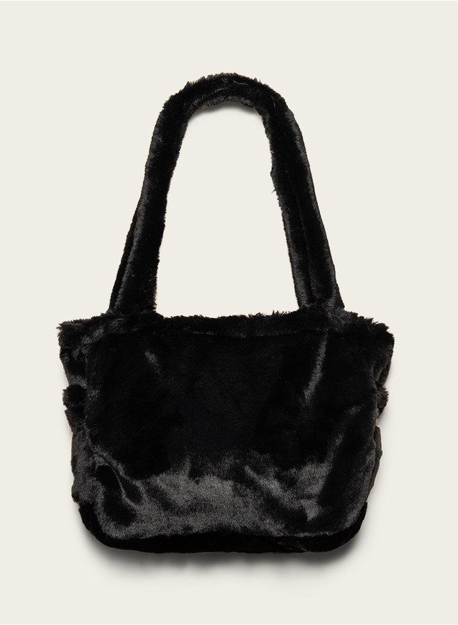 Omay City Bag Black Fux Fur