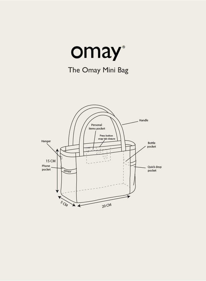 Omay Mini Bag Green Teddy