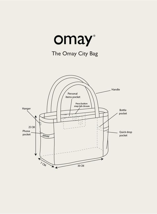 Omay City Bag Green Teddy