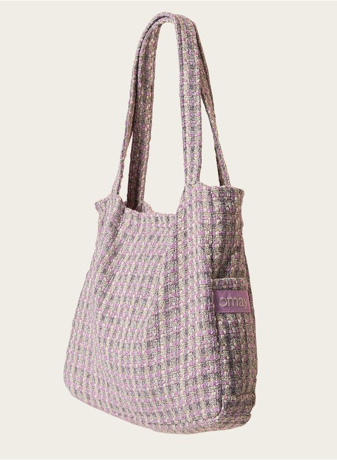 Omay Tweed Pink Bag