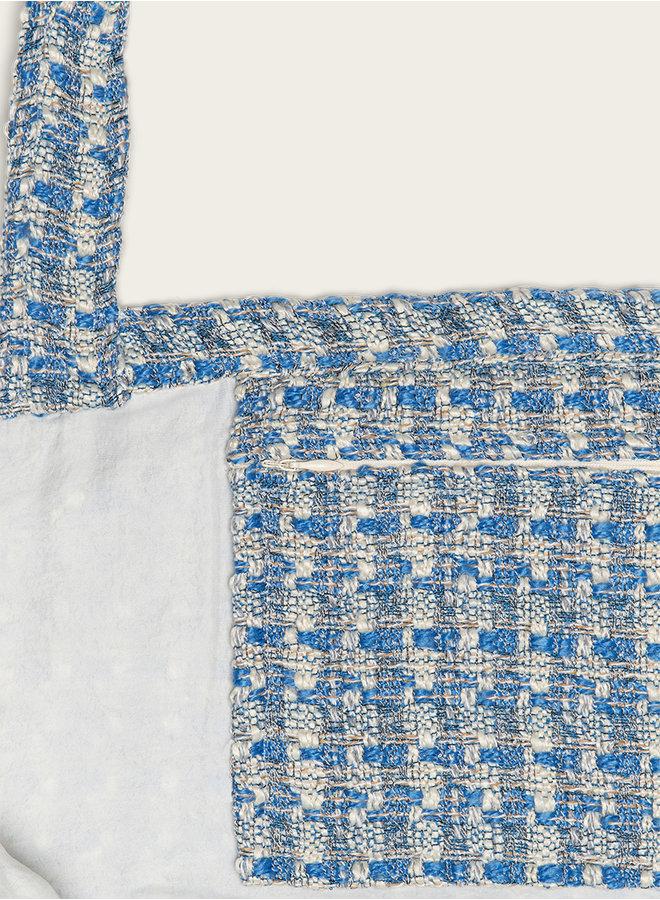 Omay Tweed Blue Bag