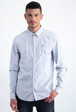 Garcia Lichtblauw overhemd met allover print