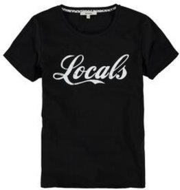 Garcia Zwart T-shirt met tekstprint