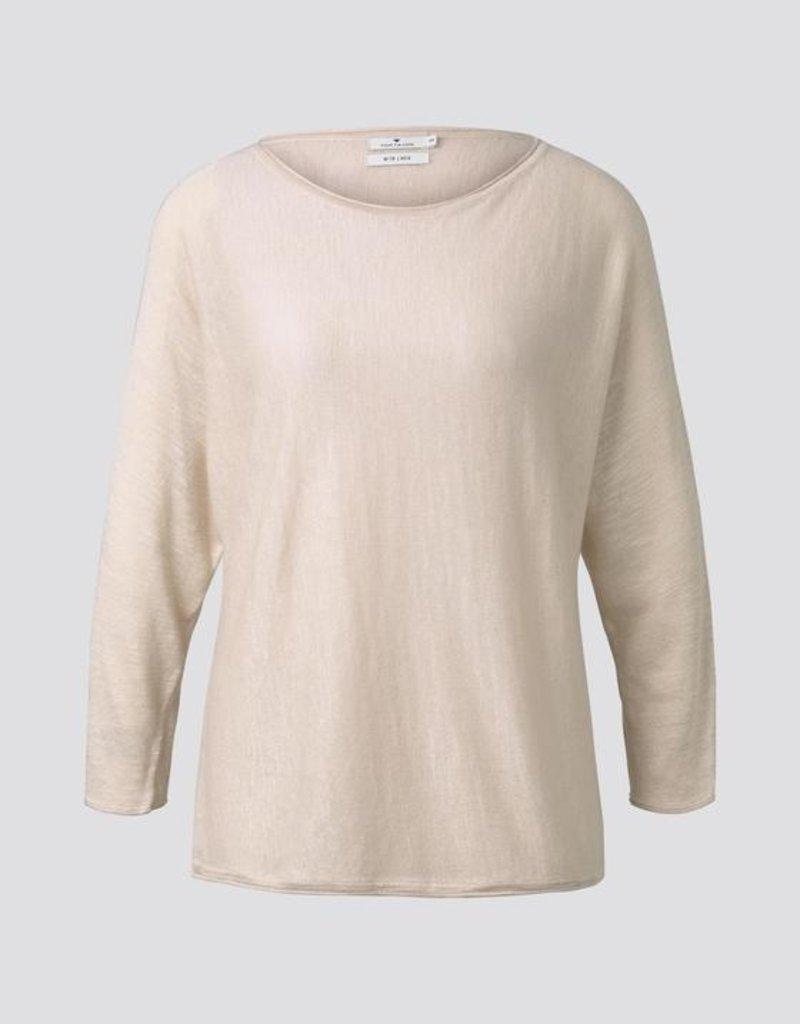 Tom Tailor Eenvoudige trui beige