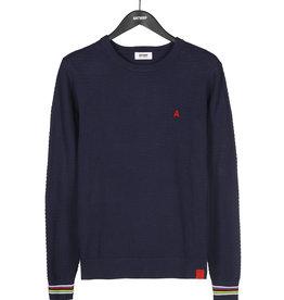 Antwrp Blauwe trui met afwerking aan pols