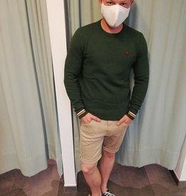 Antwrp Groene trui met afwerking aan pols