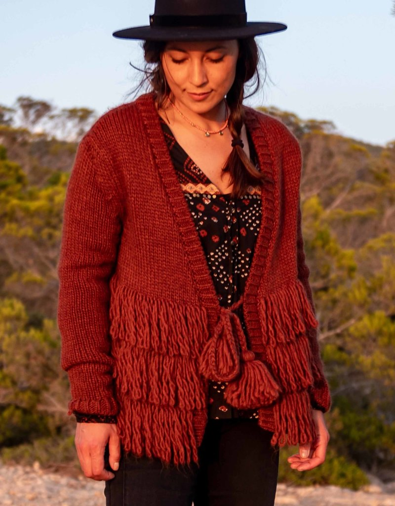 Isla Ibiza Knitted cardigan with fringles
