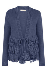 Isla Ibiza Knitted cardigan with fringles jeans