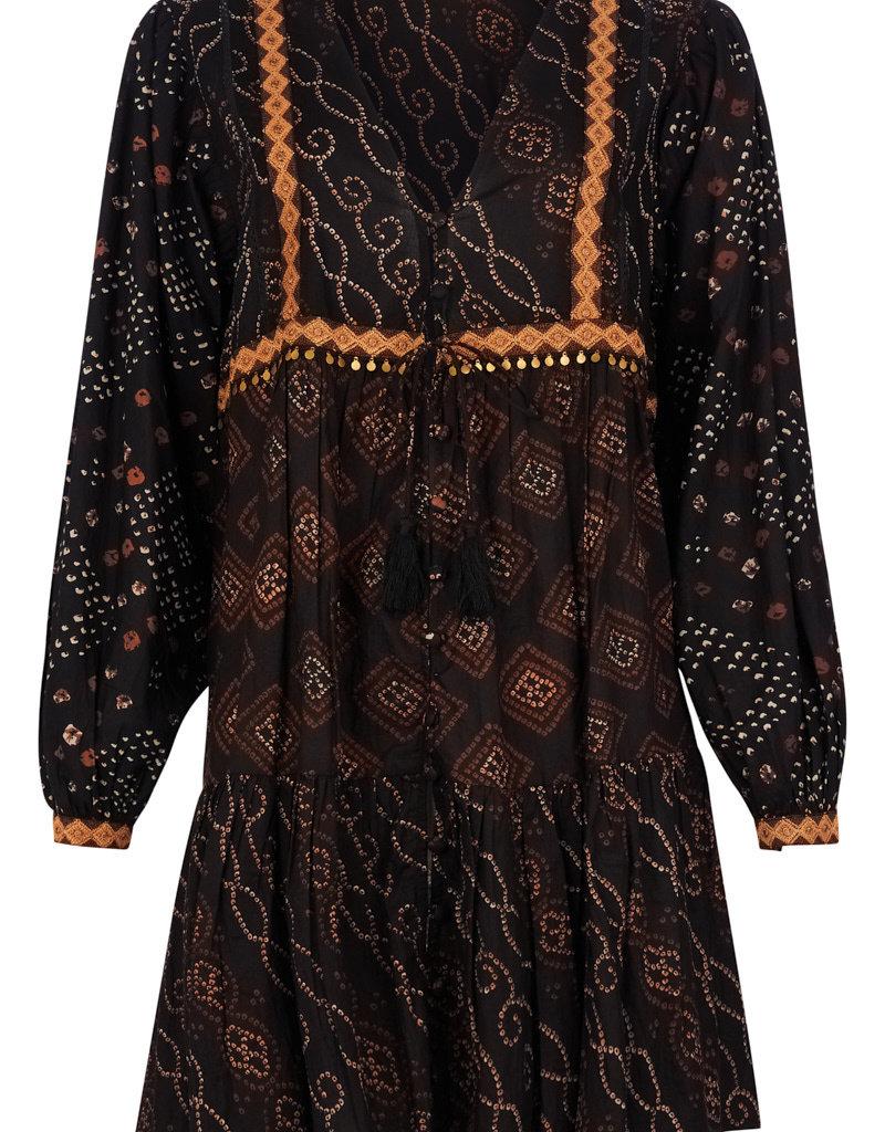 Isla Ibiza Short dress aztek mixed print