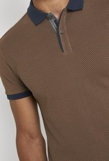 Tom Tailor Poloshirt met fijn patroon (bruin)