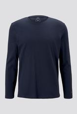 Tom Tailor Basic shirt met lange mouwen (blauw)