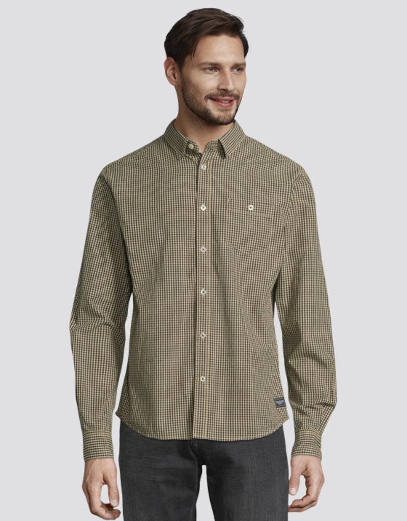 Tom Tailor Fijn geruite overhemd met borstzak