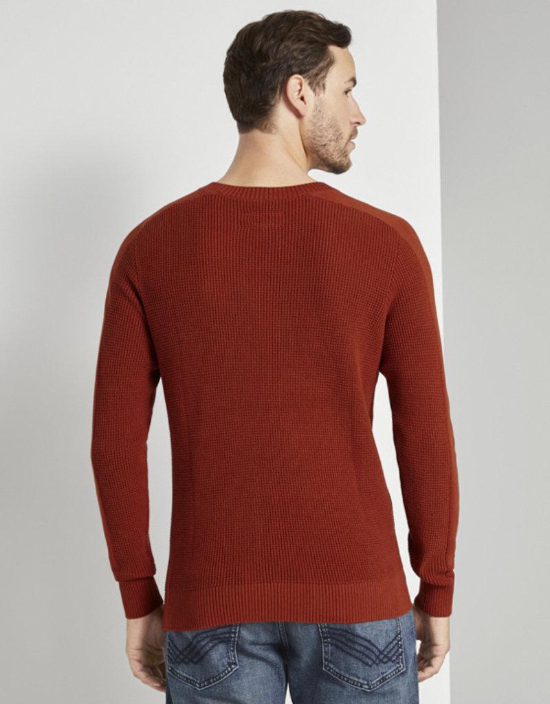 Tom Tailor Gebreide trui met mouwen (oranje)