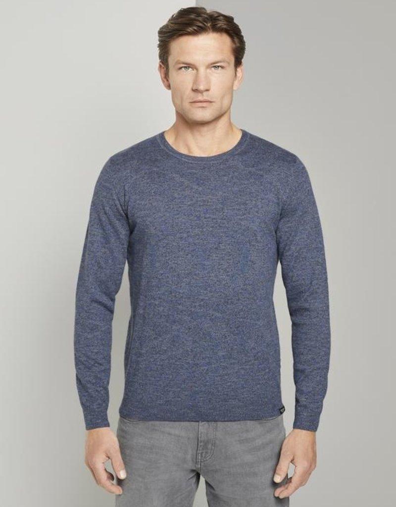 Tom Tailor Gevlekte trui blauw