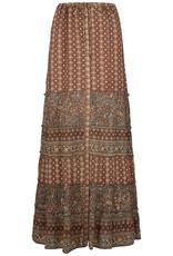Isla Ibiza Boho Maxi Skirt Mixed Floral Printed