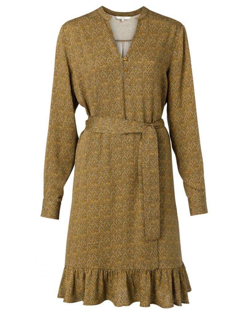 yaya Midi jurk met riem