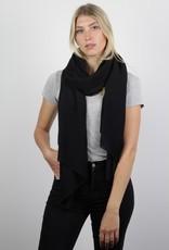 Codello Zwarte sjaal met ribbel