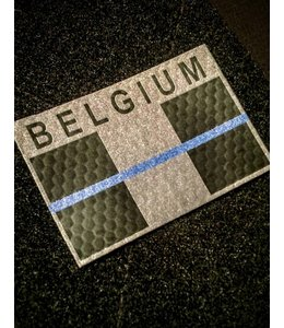 Contact Front IR Belgium Blue Line flag