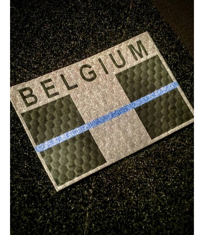 Contact Front IR Belgium Blue Line flag