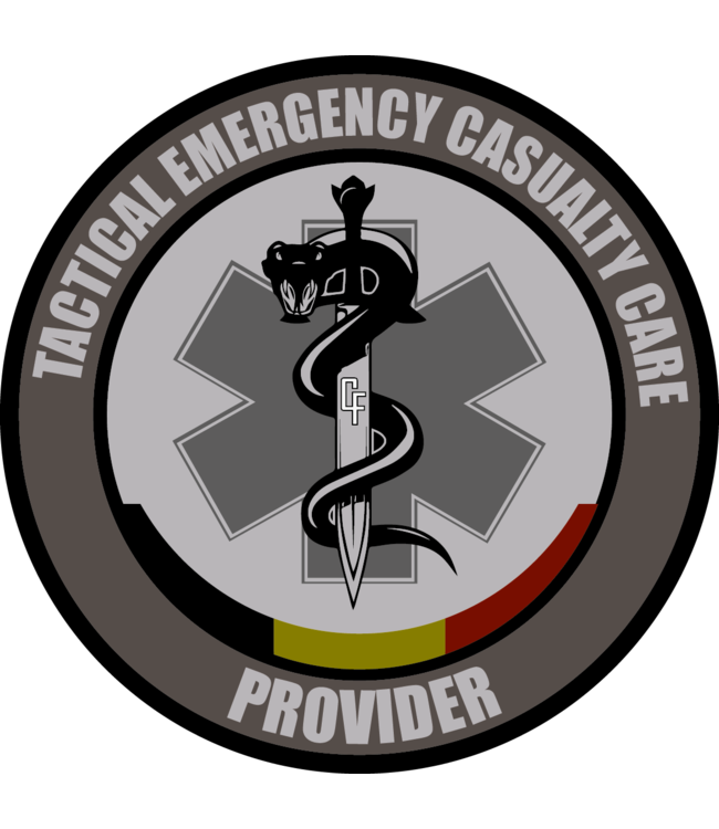 Contact Front Tactical Emergency Casualty Care Provider patch PVC