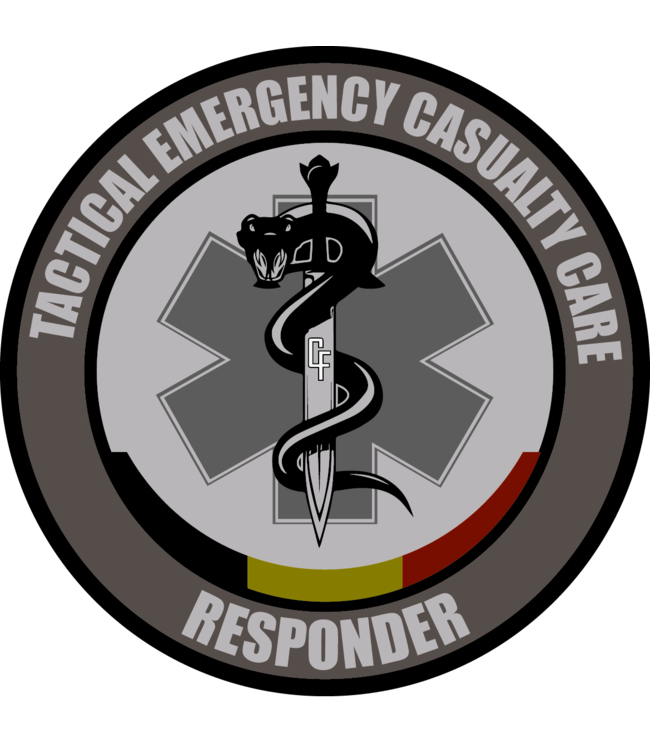 Contact Front Tactical Emergency Casualty Care Responder patch PVC