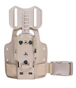 Safariland Single Strap Leg Shroud with Drop Flex Adapter & QLS 22