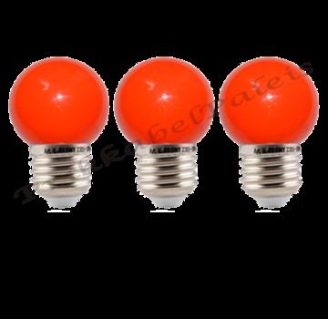 LED kogellamp - 1W E27 Rood