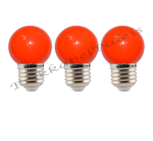 LED kogellamp - 1W E27 Rood