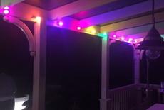 Witte prikkabel 15 meter met 30 gekleurde LED lampen