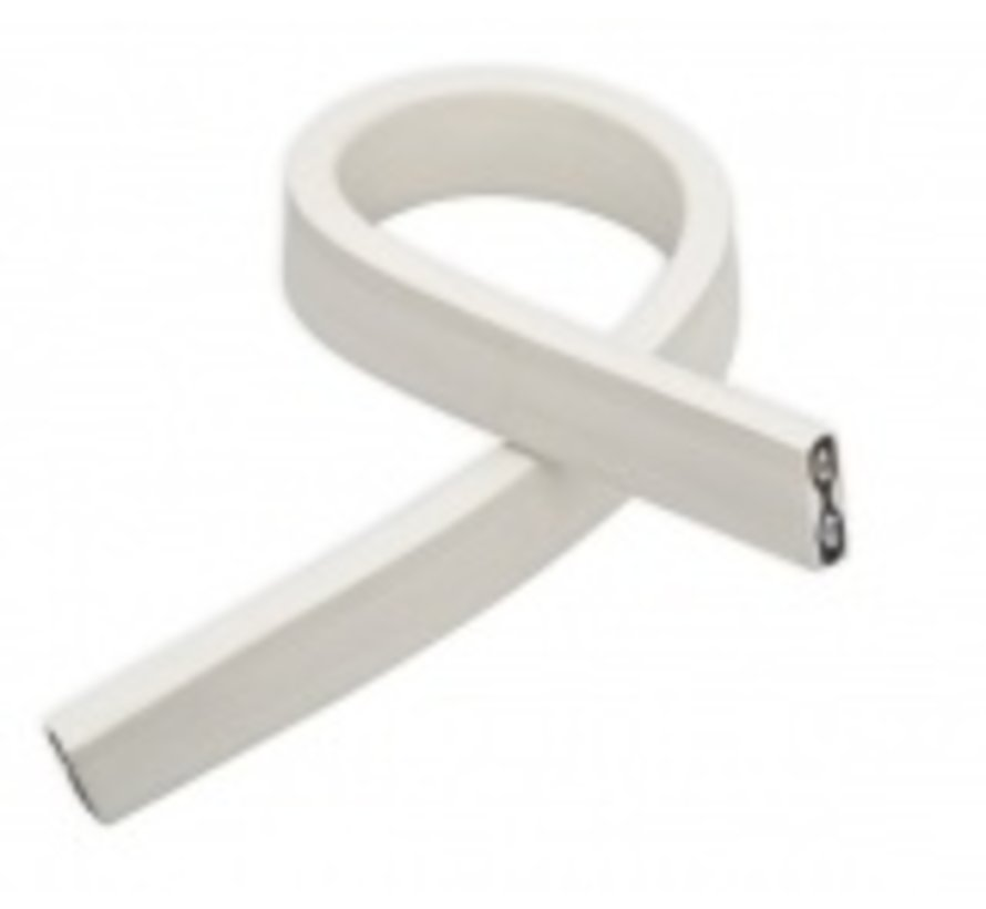 Witte prikkabel - per meter