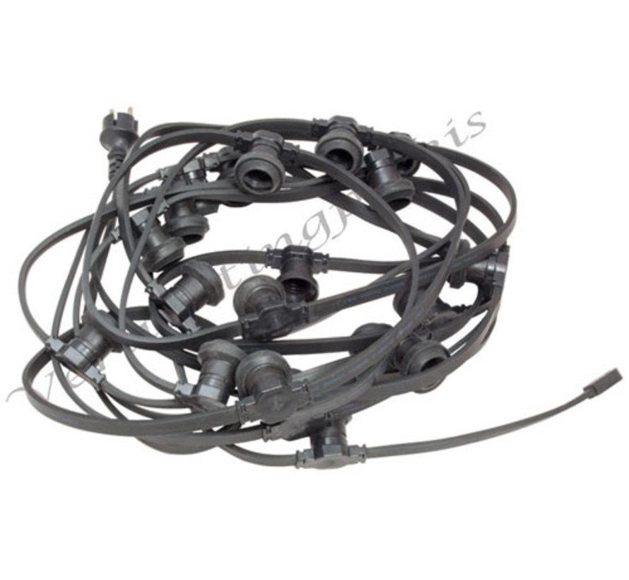 Complete kabel van 15 meter met 20 fittingen zonder LED lampen