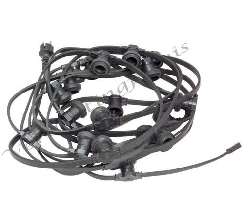 Complete kabel van 25 meter met 50 fittingen zonder LED lampen
